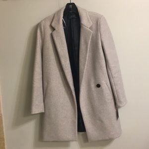 Zara basic grey pea coat- brand new tags attached